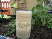 Hope candle w flowers