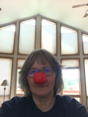 Deb with Red Nose