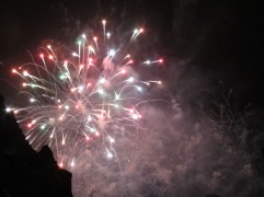 red and white firework