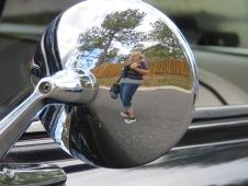 Deb reflected,mirror back
