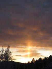light shaft in clouds, ver, orig