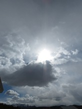 bigger sun and clouds